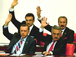 .The Turkish parliament on Wednesday gave the government authorization for a possible cross-border military operation into northern Iraq